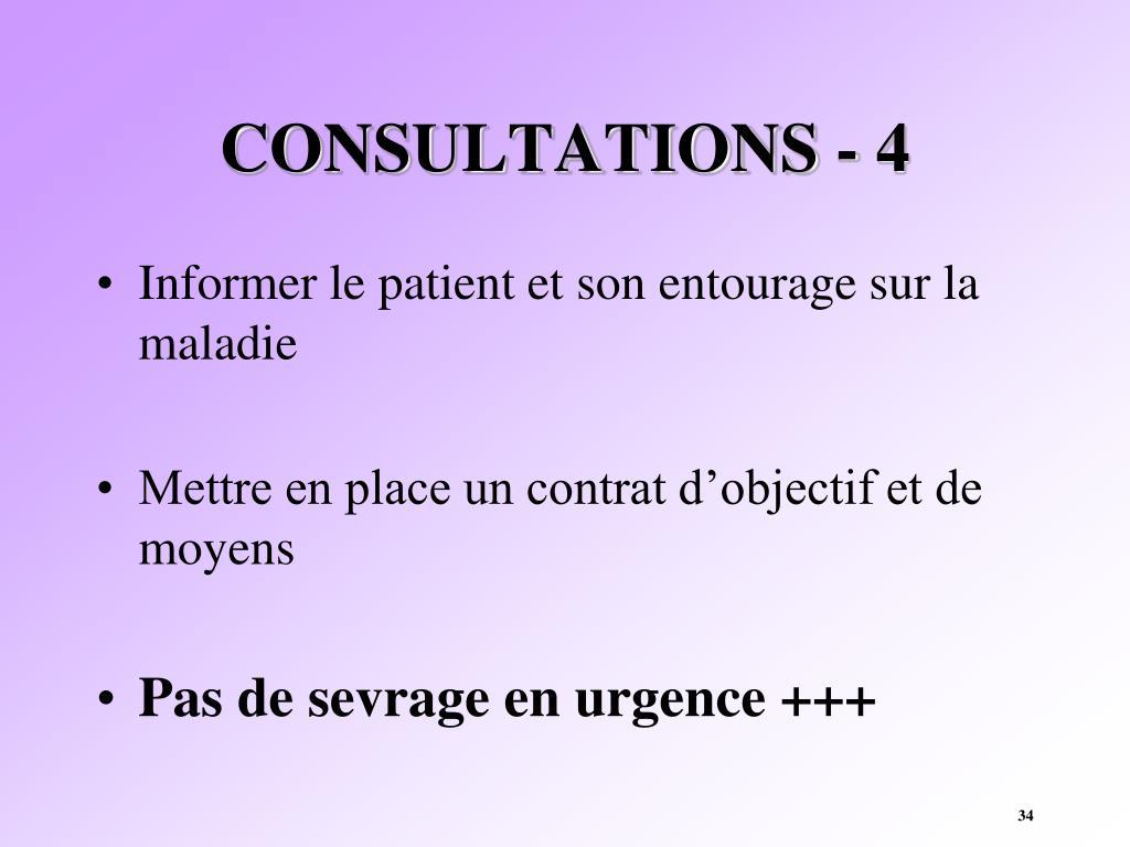 CONSULTATIONS - 4