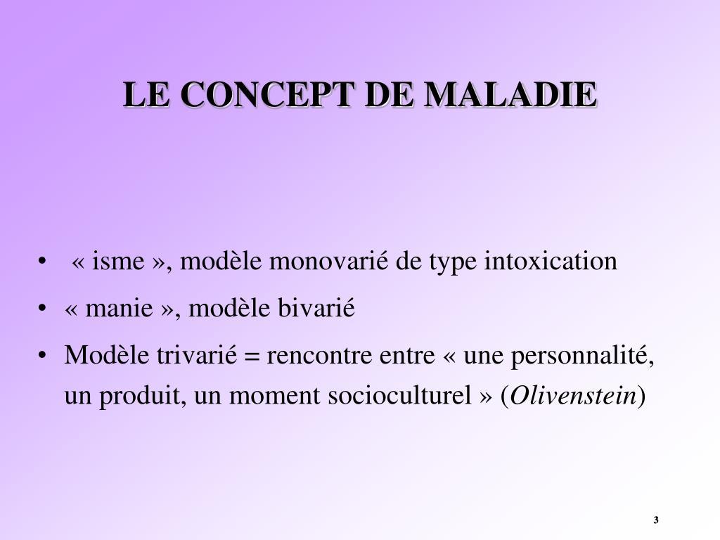 LE CONCEPT DE MALADIE