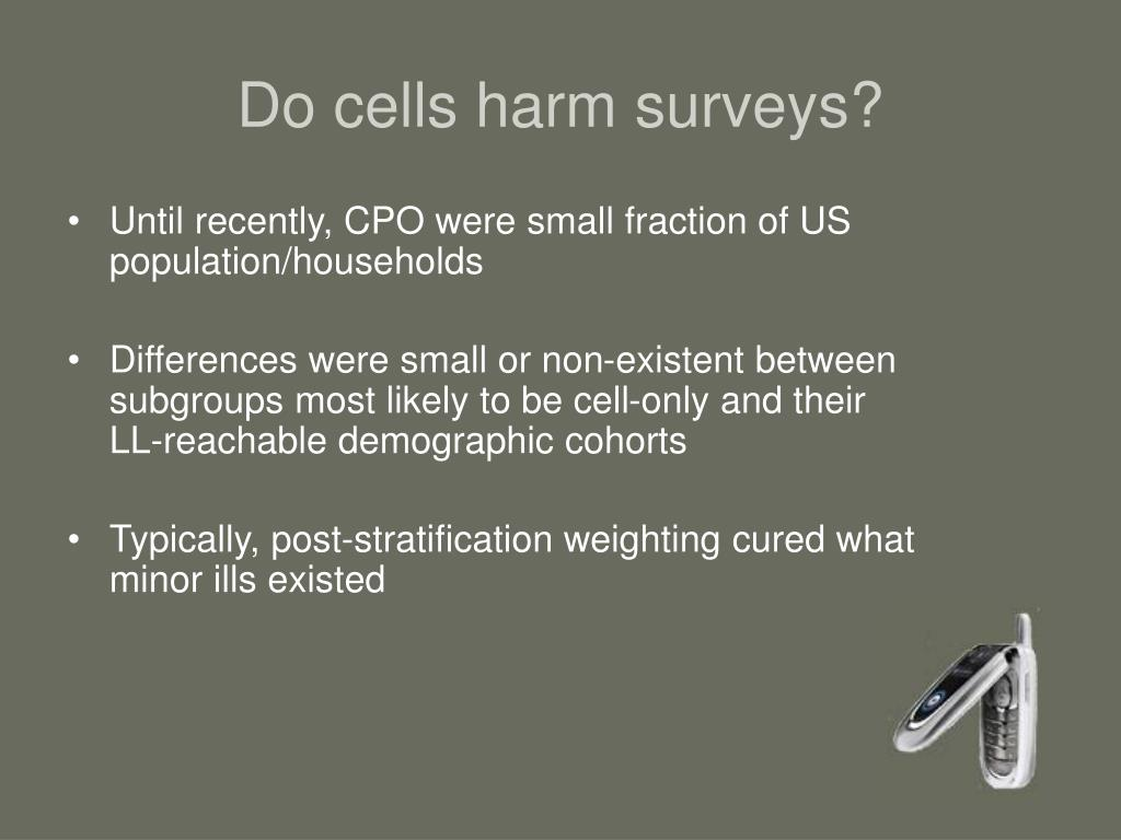 Do cells harm surveys?