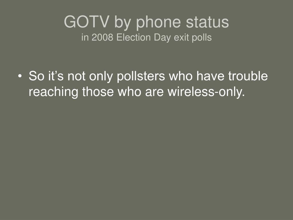 GOTV by phone status