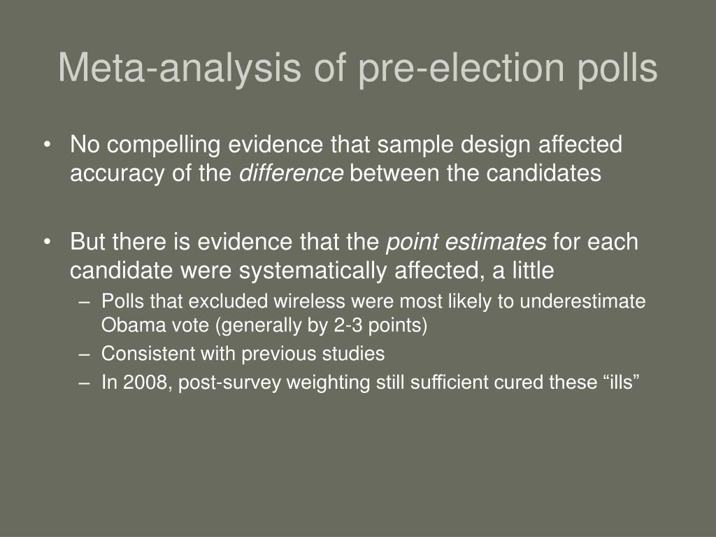 Meta-analysis of pre-election polls