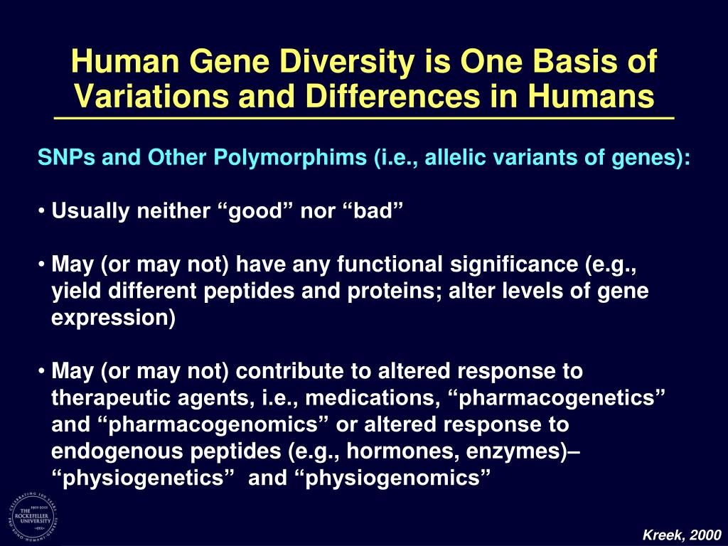 Human Gene Diversity is One Basis of Variations and Differences in Humans