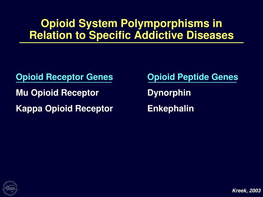 Opioid System Polymporphisms in Relation to Specific Addictive Diseases