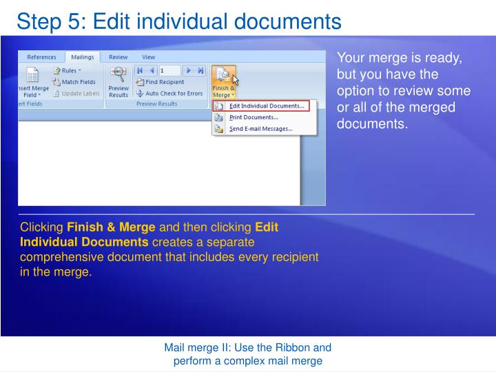 Step 5: Edit individual documents