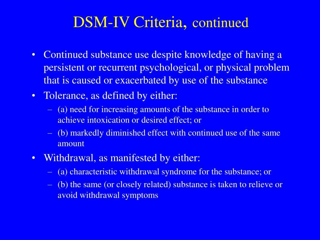 DSM-IV Criteria