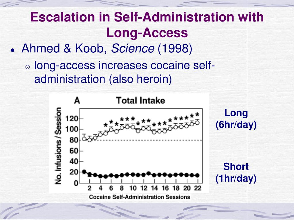 Escalation in Self-Administration with Long-Access