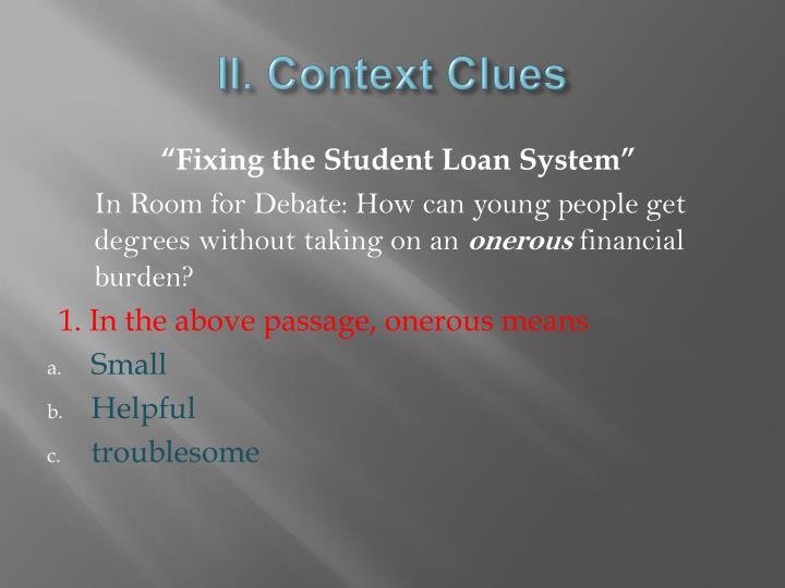 II. Context Clues