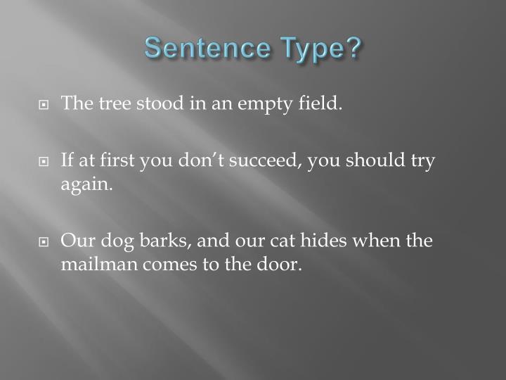 Sentence Type?