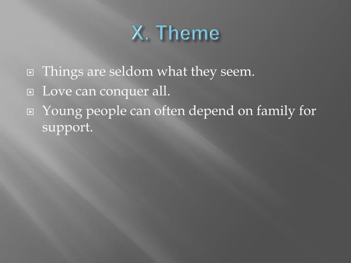 X. Theme