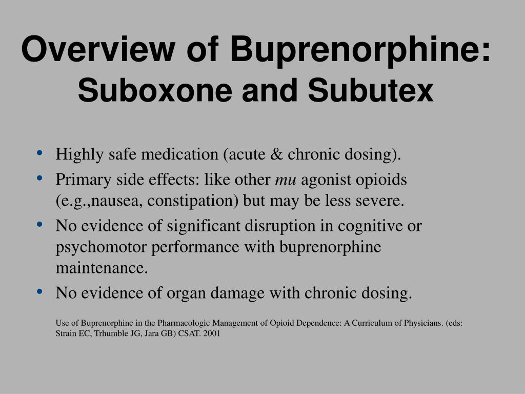 Overview of Buprenorphine: