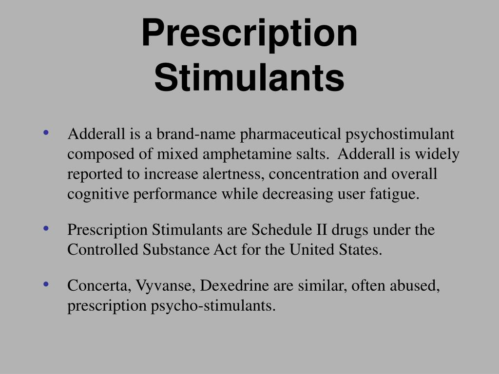 Prescription Stimulants