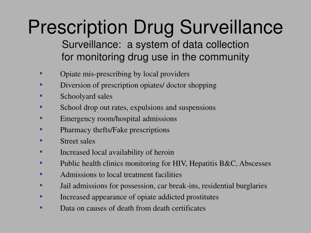 Prescription Drug Surveillance