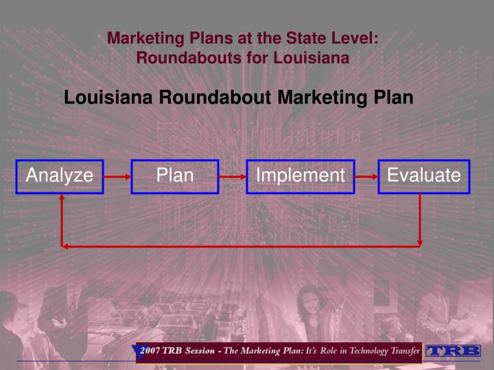 Marketing Plans at the State Level:
