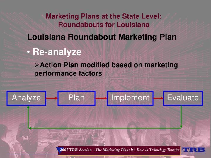 Louisiana Roundabout Marketing Plan