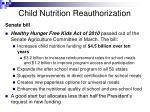 child nutrition reauthorization13