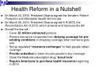 health reform in a nutshell