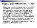 results child nutrition laser talk17