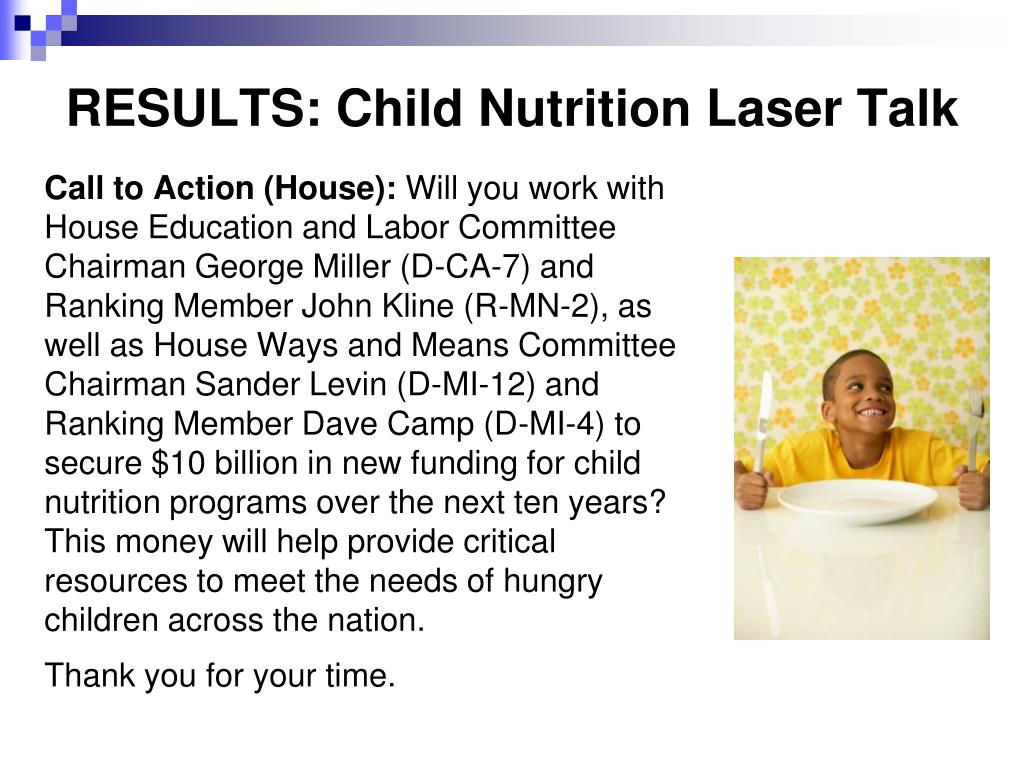 RESULTS: Child Nutrition Laser Talk