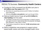 results success community health centers