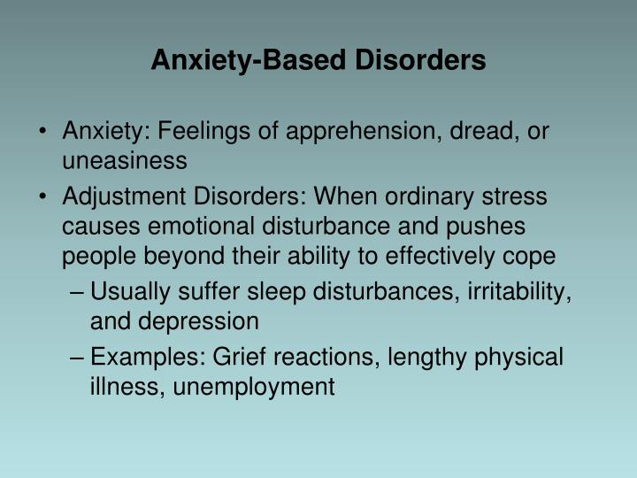 Anxiety-Based Disorders