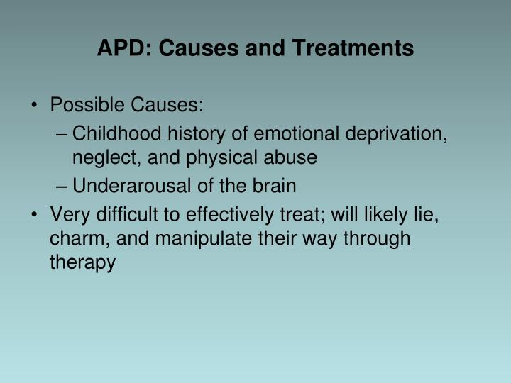 APD: Causes and Treatments