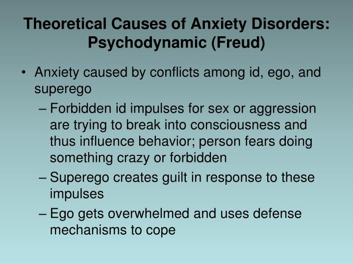Theoretical Causes of Anxiety Disorders: Psychodynamic (Freud)