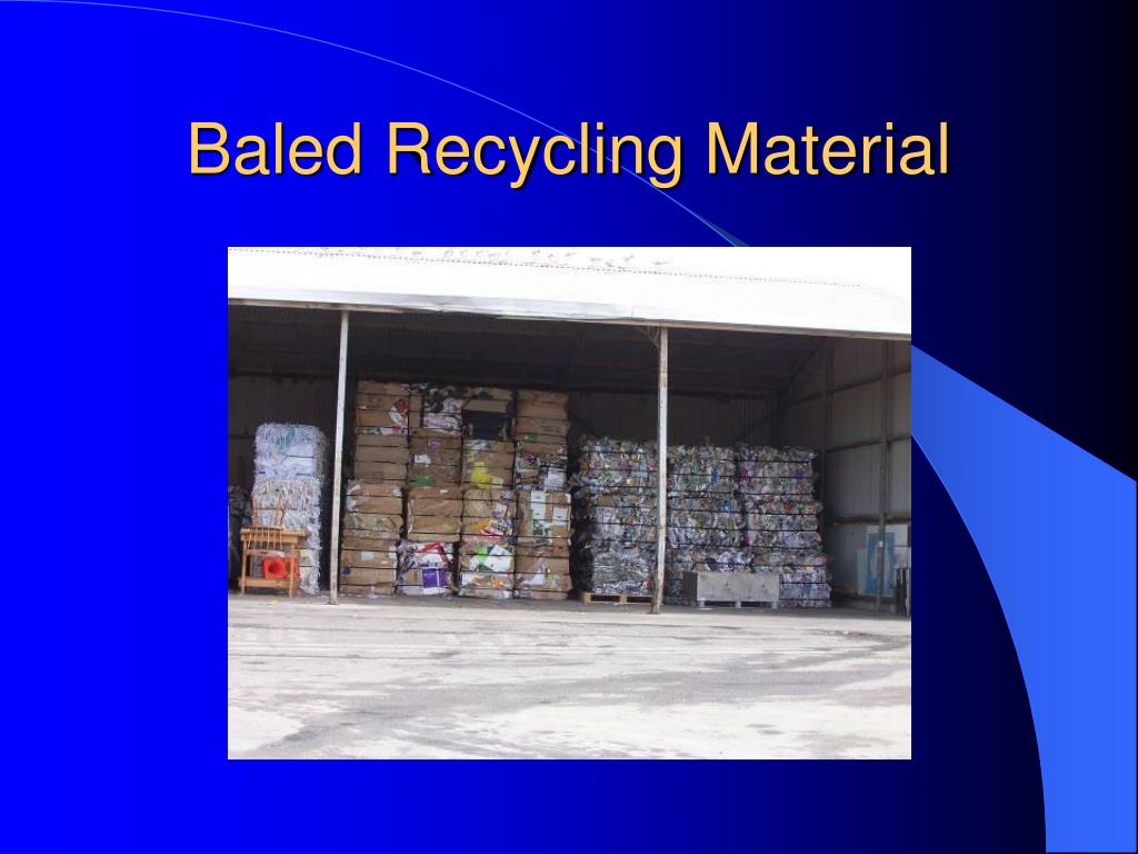 Baled Recycling Material