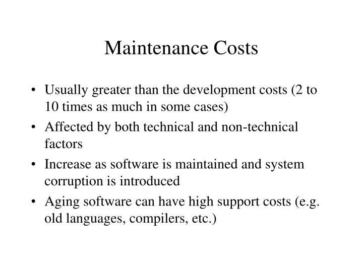 Maintenance Costs