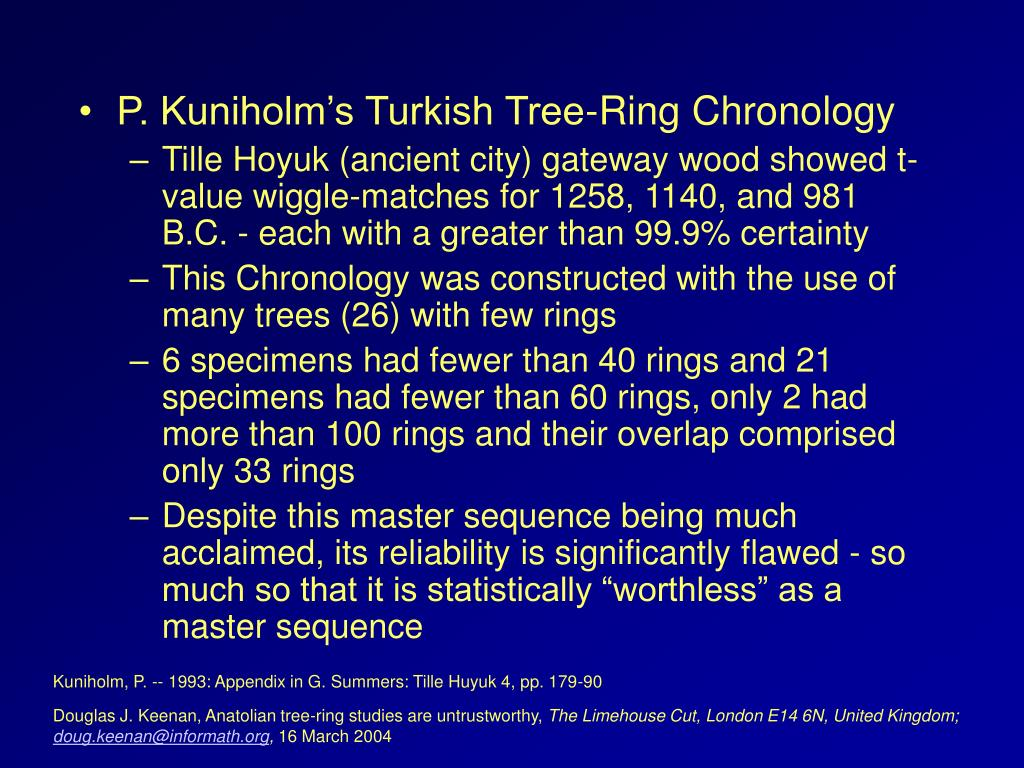 P. Kuniholm's Turkish Tree-Ring Chronology
