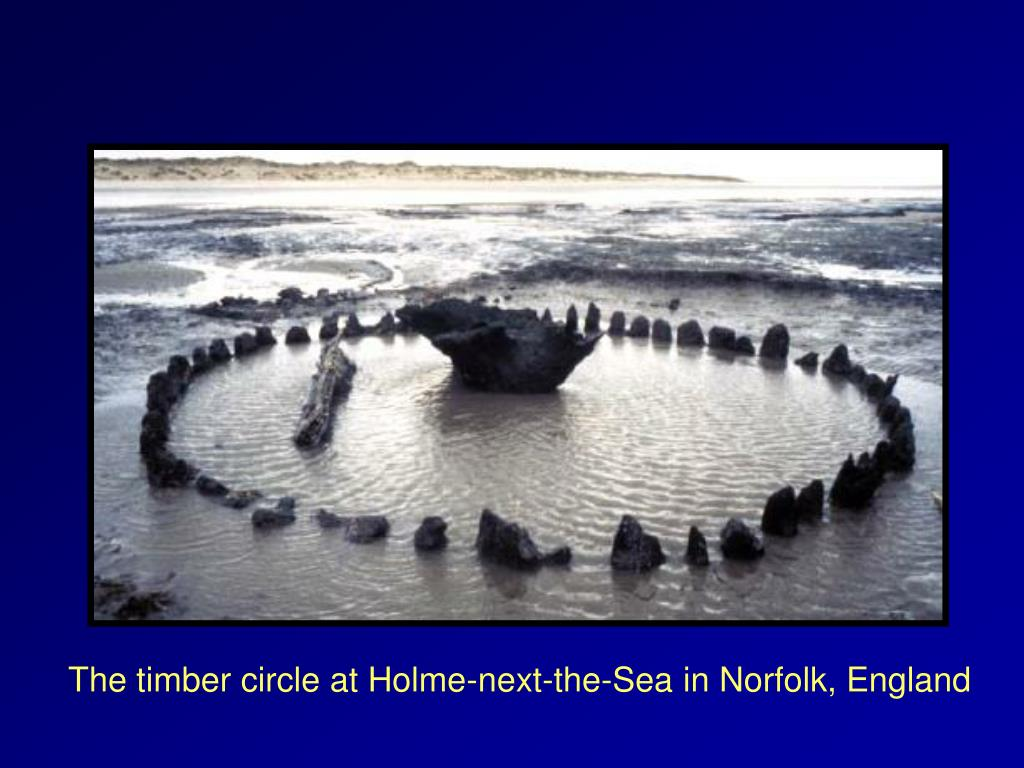 The timber circle at Holme-next-the-Sea in Norfolk, England