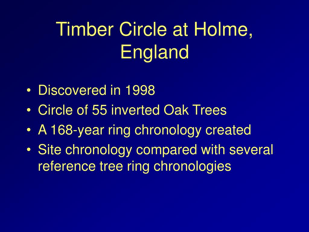 Timber Circle at Holme, England