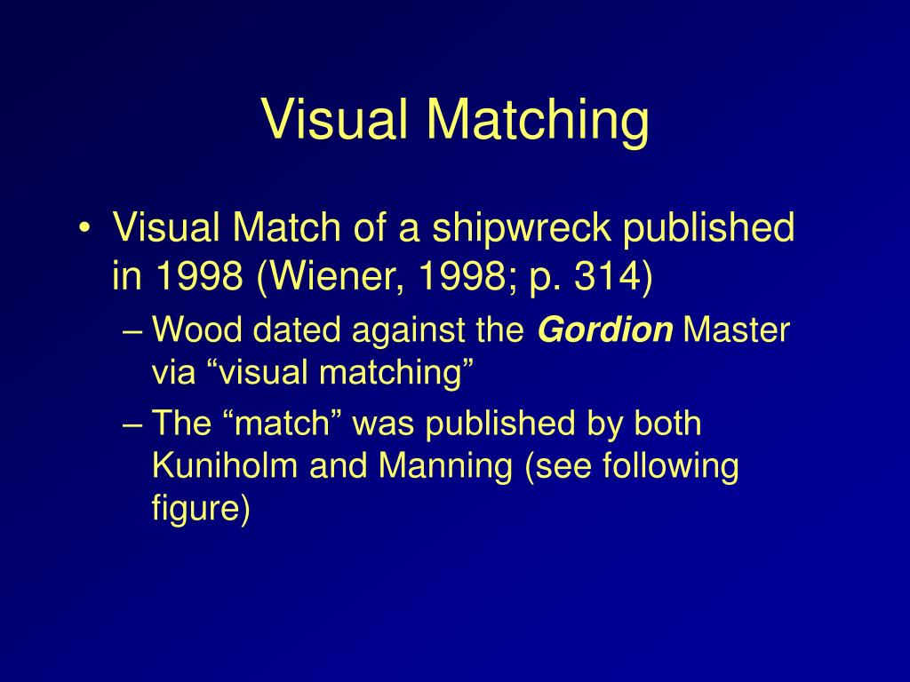 Visual Matching