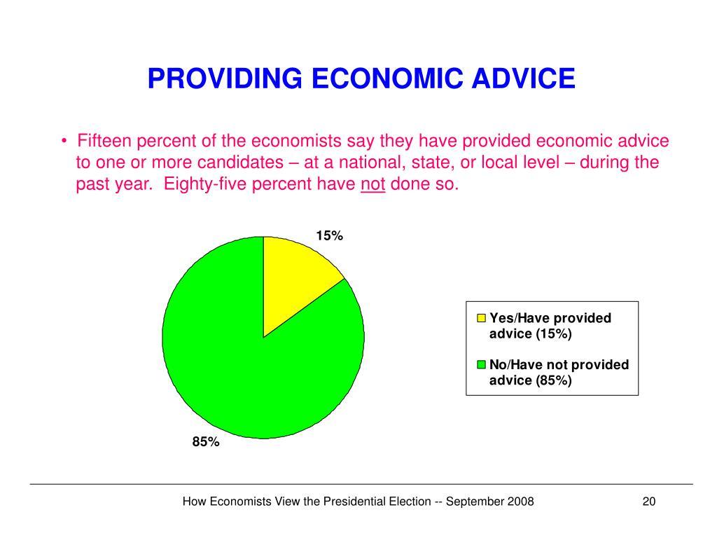 PROVIDING ECONOMIC ADVICE