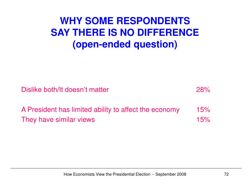 WHY SOME RESPONDENTS
