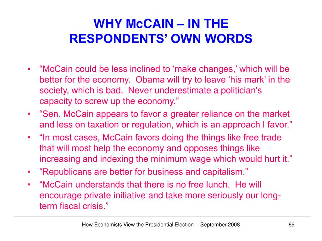 WHY McCAIN – IN THE