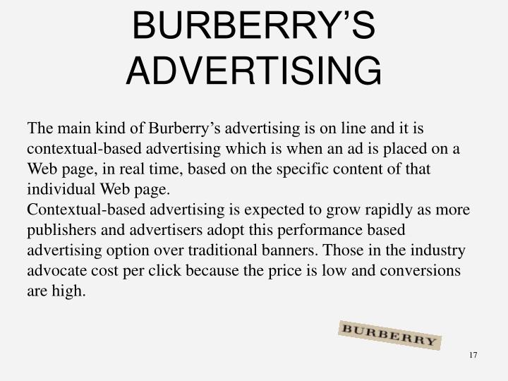 BURBERRY'S ADVERTISING