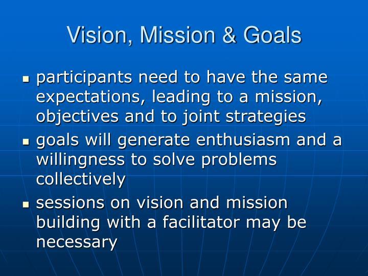 Vision, Mission & Goals