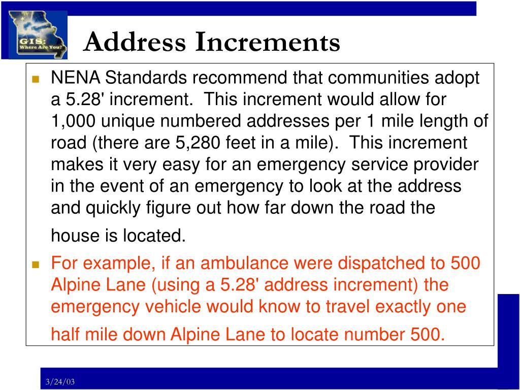 Address Increments