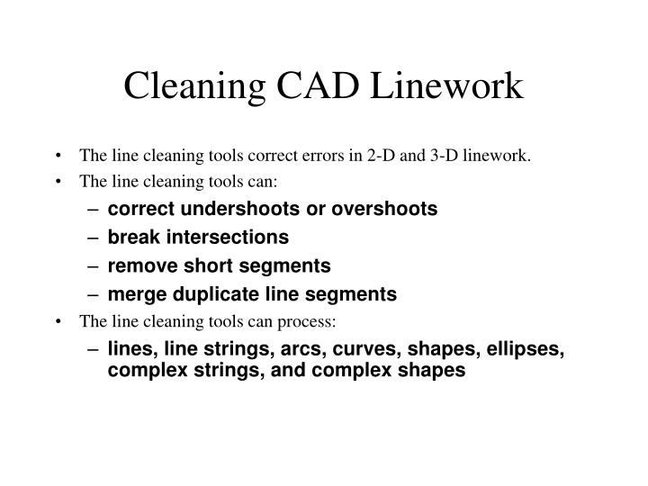 Cleaning CAD Linework