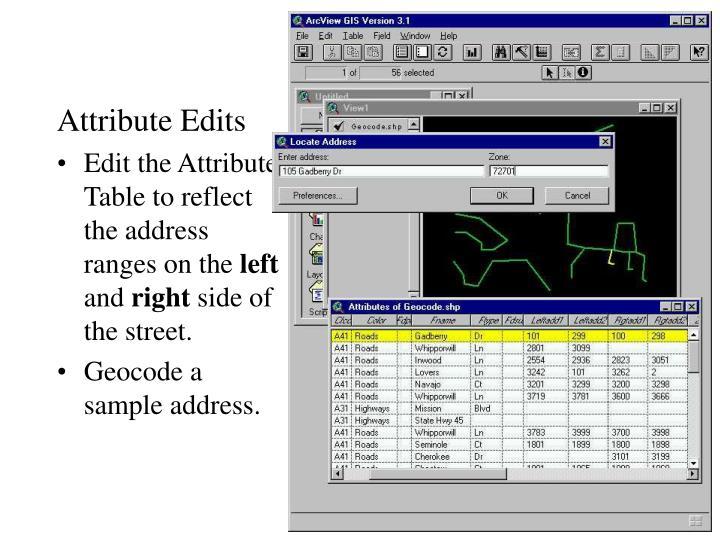 Attribute Edits