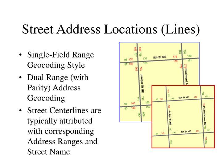 Street Address Locations (Lines)