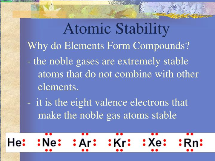 Atomic Stability
