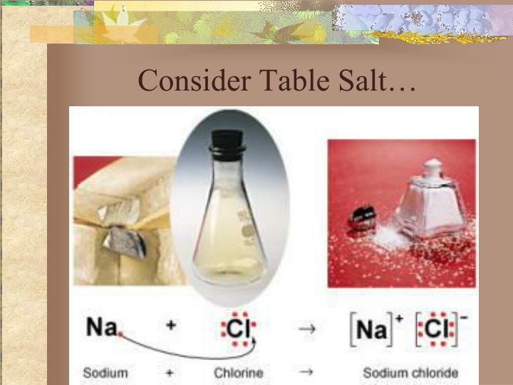 Consider Table Salt…