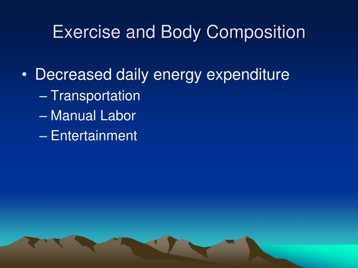 Exercise and Body Composition