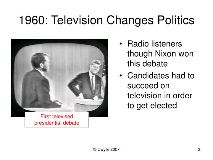 1960 television changes politics