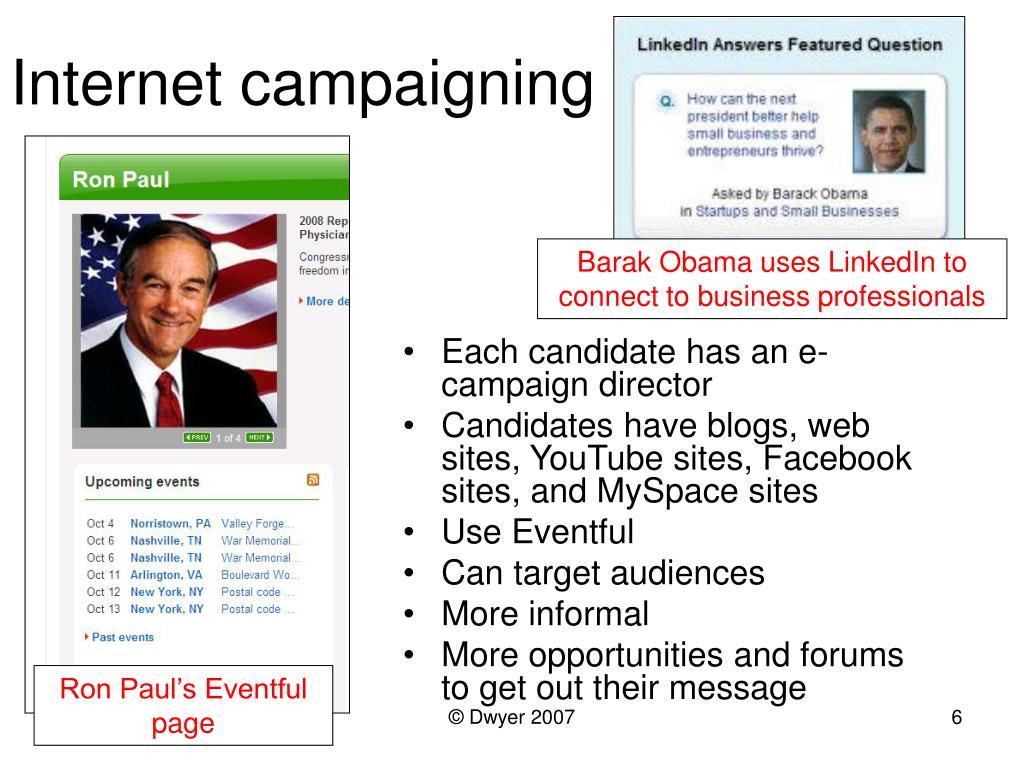 Internet campaigning
