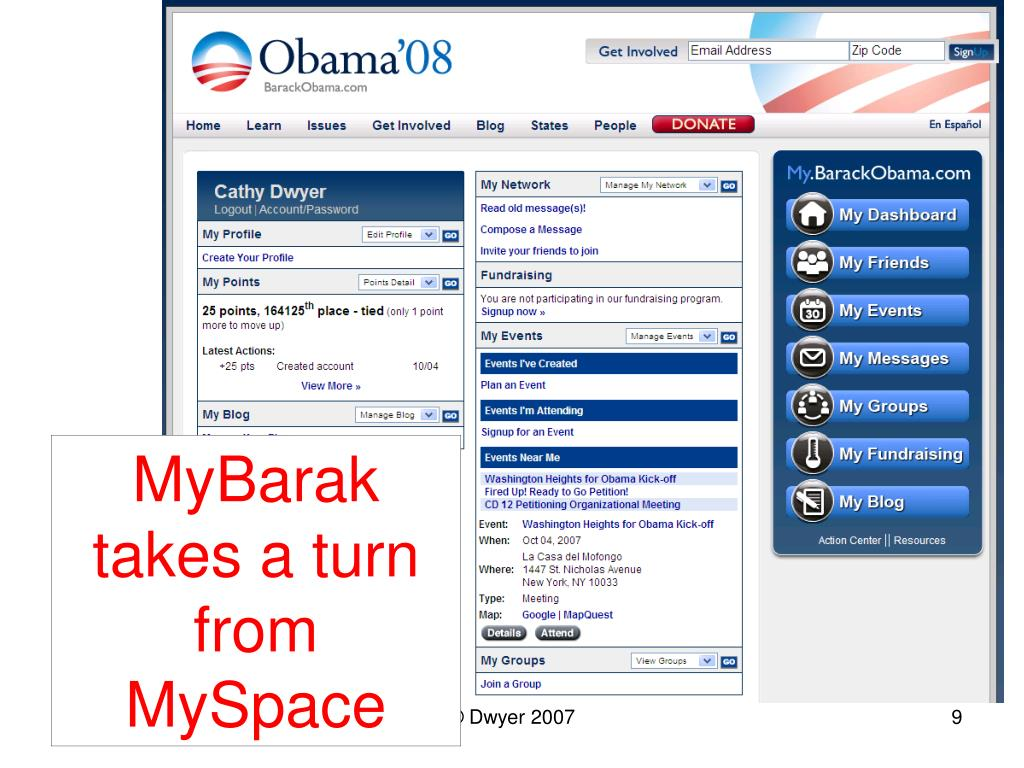 MyBarak takes a turn from MySpace