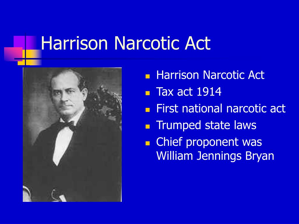 Harrison Narcotic Act
