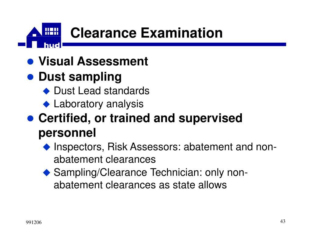 Clearance Examination