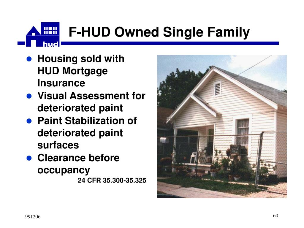 Housing sold with HUD Mortgage Insurance